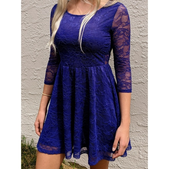 e539938efaf6 Divided Dresses | Hm Blue Lace Dress | Poshmark